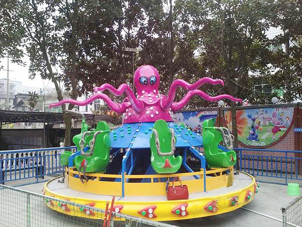 Ofrece Juegos Mecánicos Para Parque De Atracciones, El Pulpo Giratorio