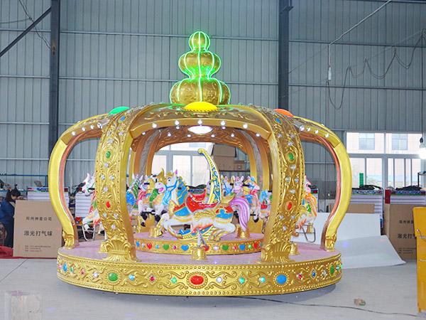 Carruseles Para Niños En Venta, Forma Corona Imperial, Juego Mecánico Infantil