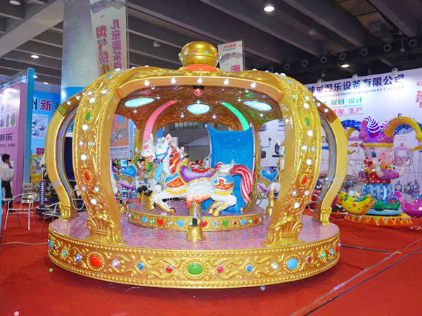 Carrusel de Caballitos en Venta, Juegos Mecánicos Infantiles Para Parques, Alta Calidad