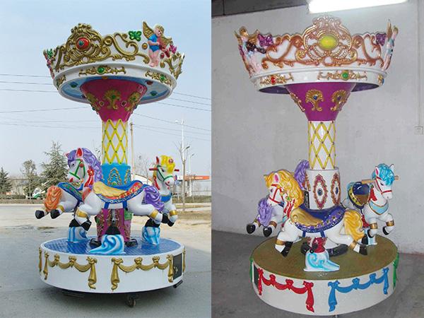 Mini Carrusel de Caballitos, Carruseles Pequeños, Calesitas, Tiovivios En Venta
