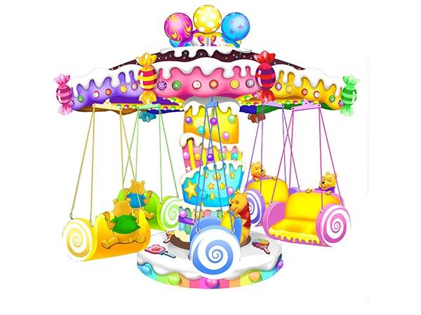 Venta de Juegos Mecánicos Para Niños, Mini Sillas Voladoras, Apariencia Atractiva e Interesante