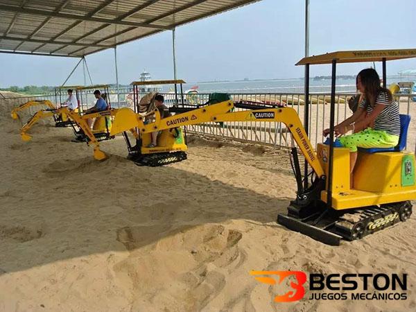 Excavadoras Infantiles Para Parques de Diversiones, Playa, Plazas Comerciales