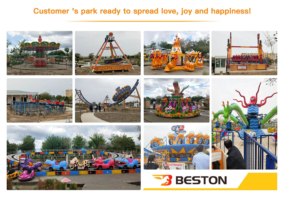 Beston Juegos Mecánicos Instalados Para Un Parque Uzbekistán