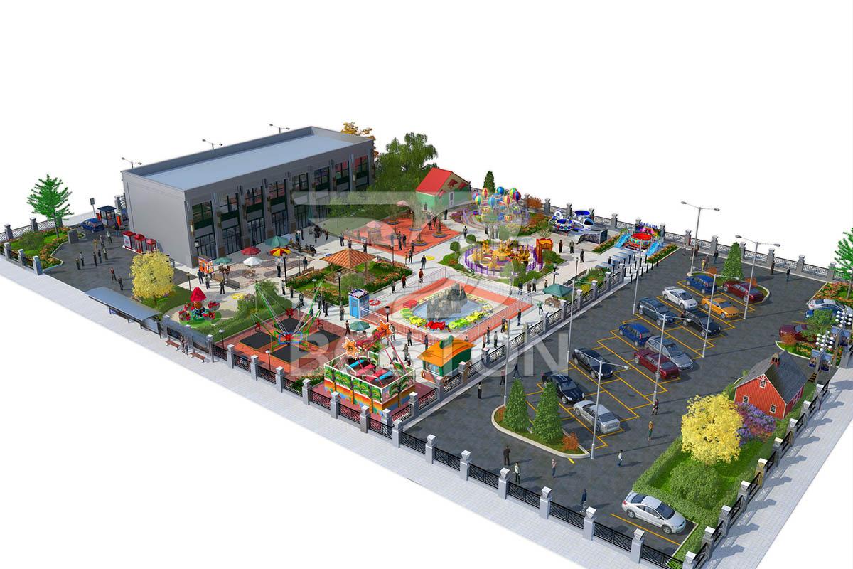 Diseño del parque infantil para hotel