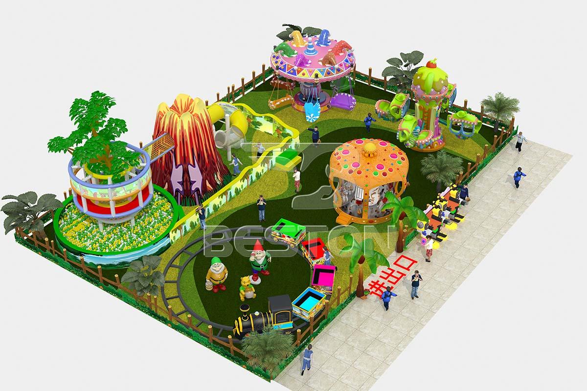 Diseño del parque infantil tema del bosque