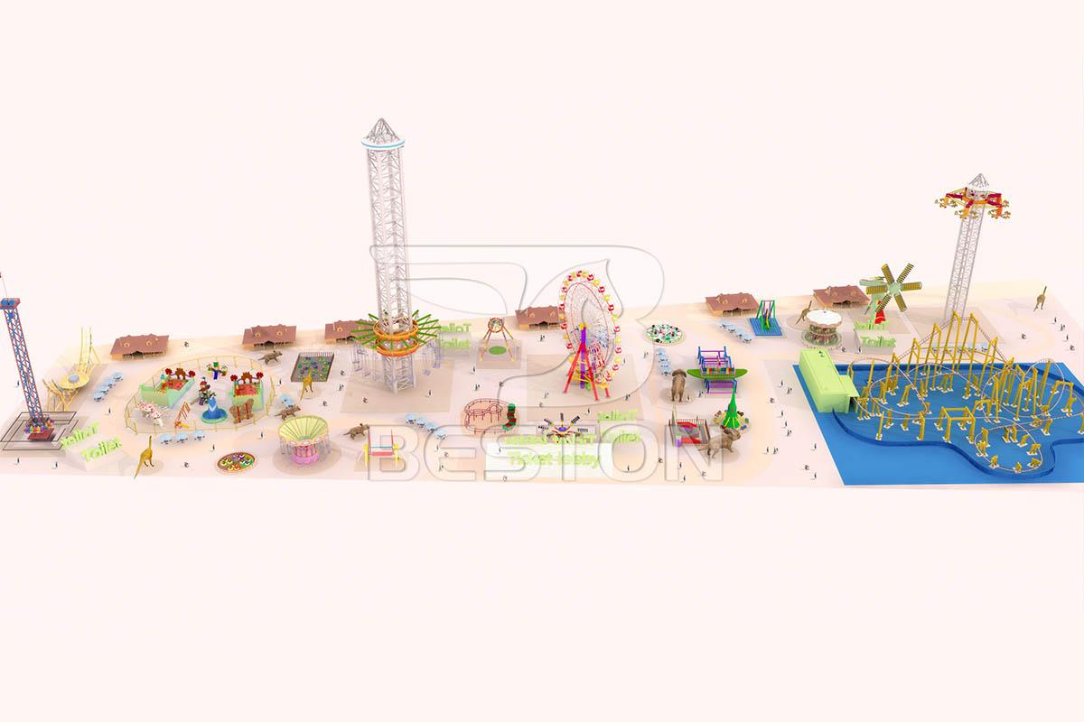 Diseño del parque tema dinosaurio