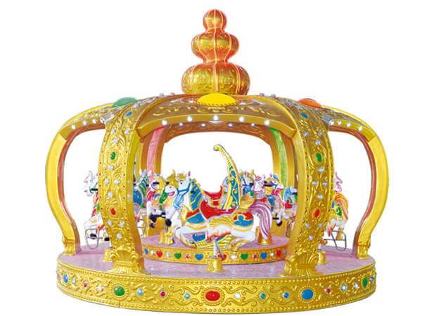 Carrusel Infantil Tema de Corona con 12 asientos