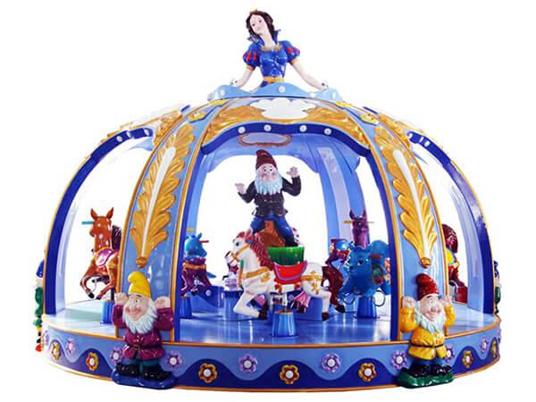 Carrusel Infantil Tema de Princesa con 12 Asientos
